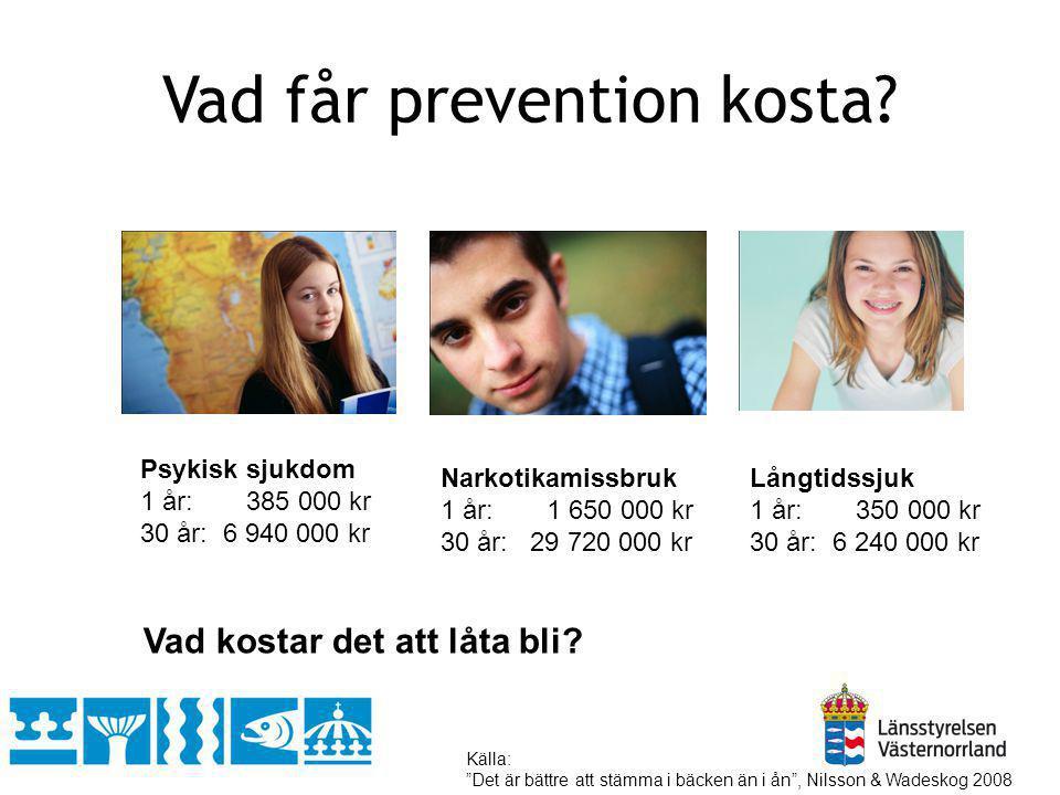 Vad får prevention kosta