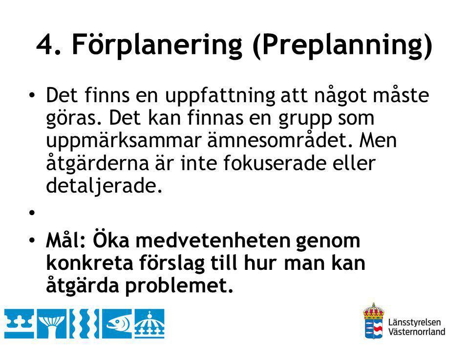 4. Förplanering (Preplanning)