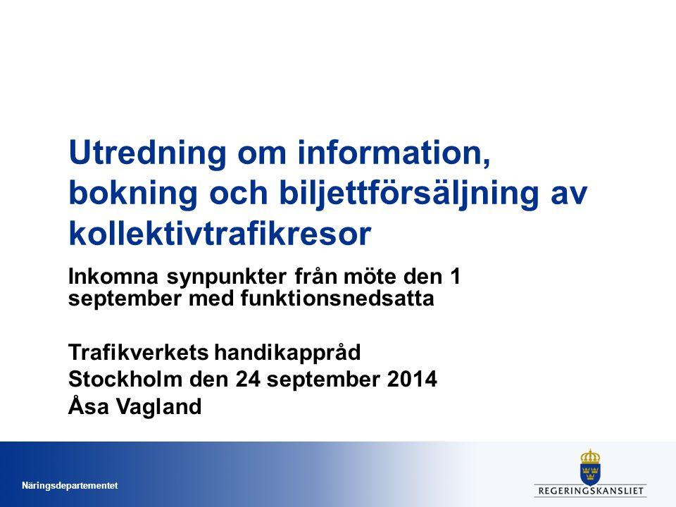 Utredning om information, bokning och biljettförsäljning av kollektivtrafikresor