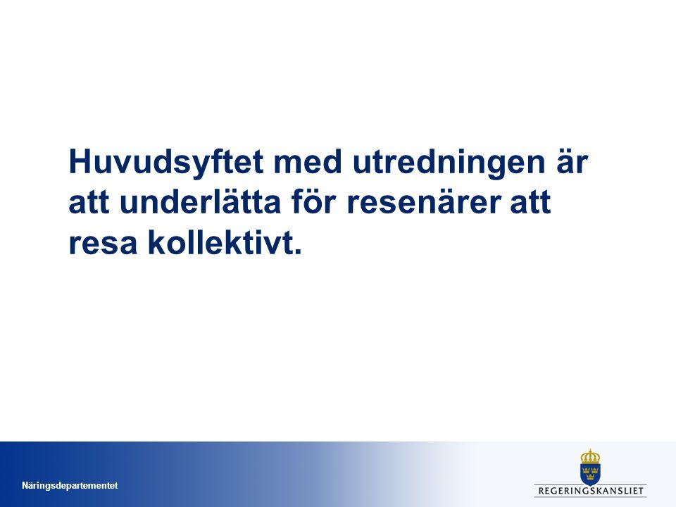 Huvudsyftet med utredningen är att underlätta för resenärer att resa kollektivt.