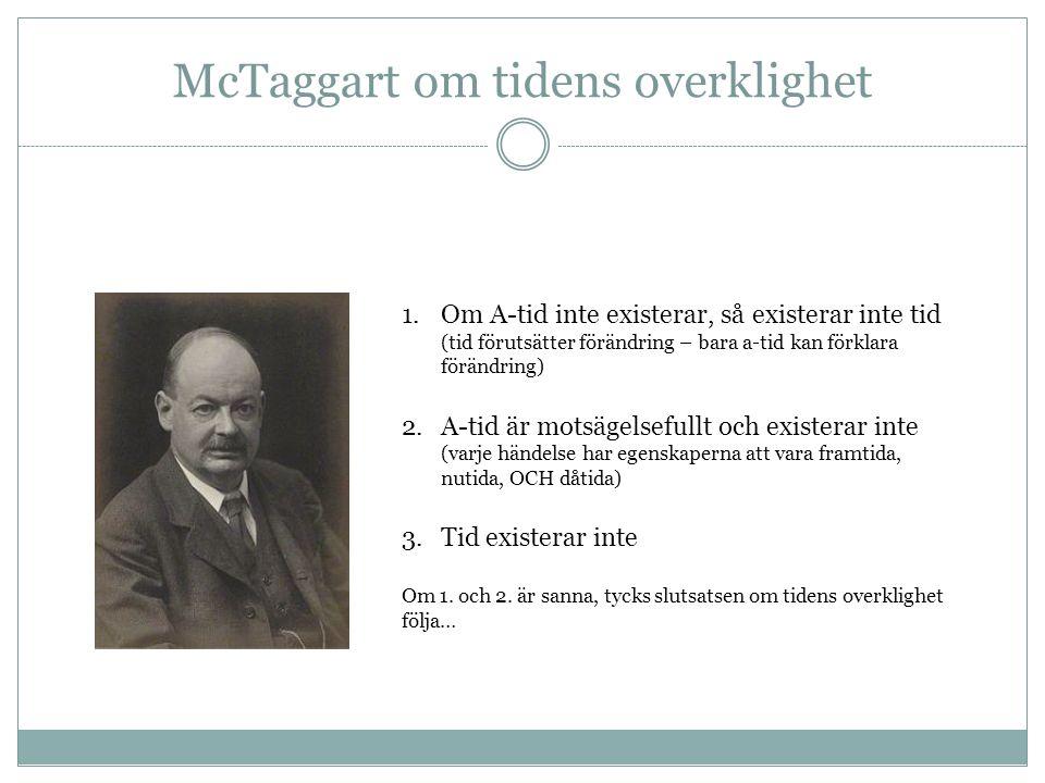 McTaggart om tidens overklighet
