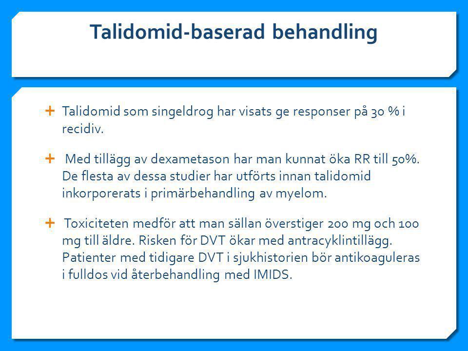 Talidomid-baserad behandling