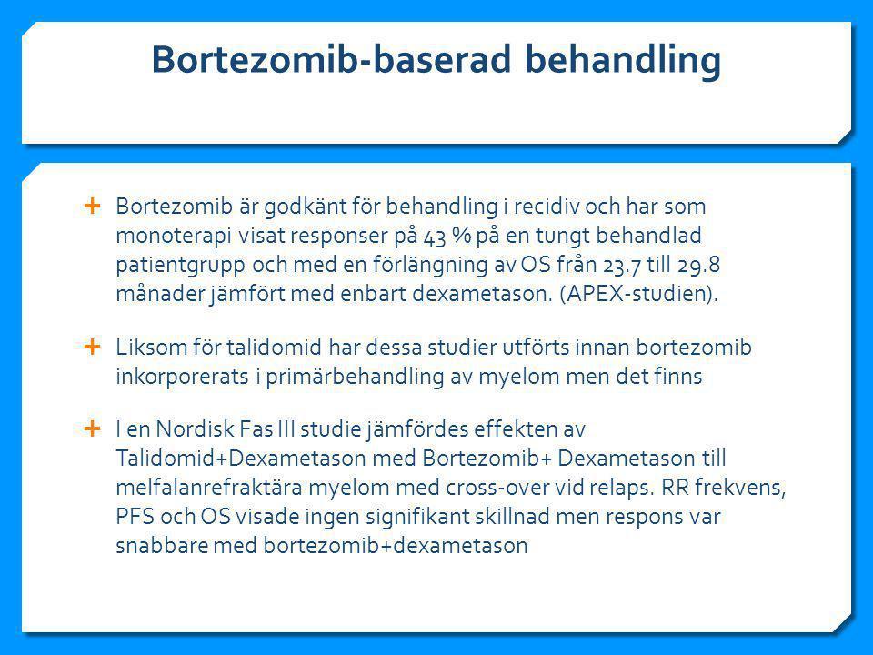 Bortezomib-baserad behandling