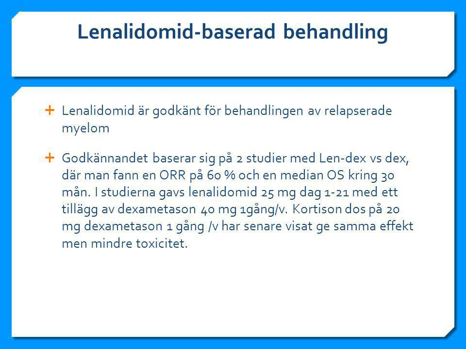 Lenalidomid-baserad behandling