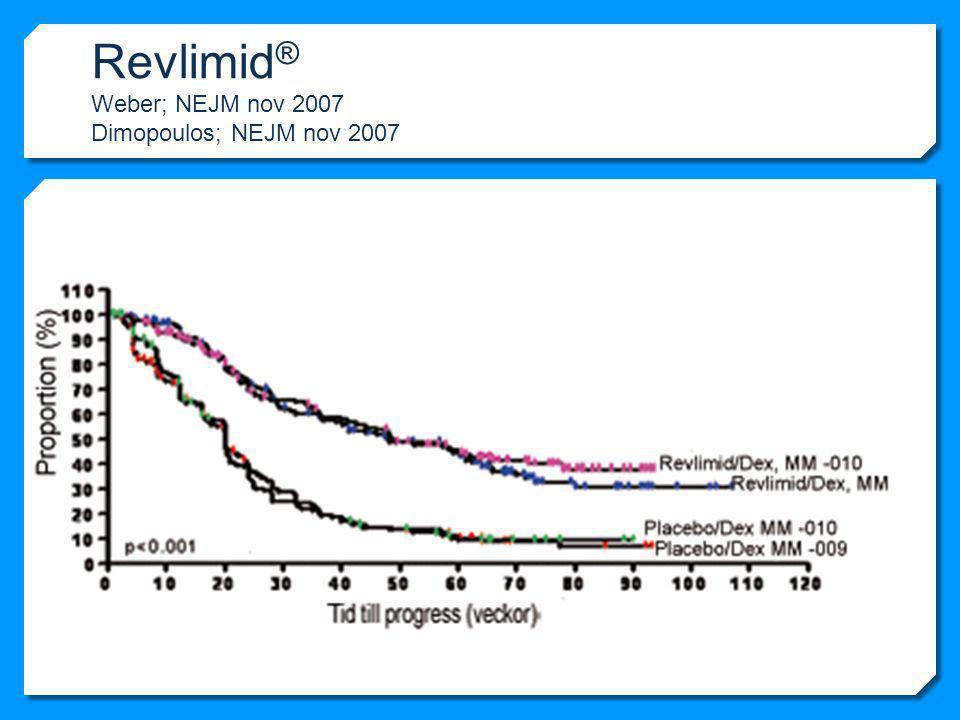 Revlimid® Weber; NEJM nov 2007 Dimopoulos; NEJM nov 2007