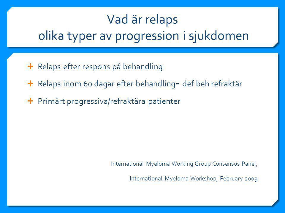 Vad är relaps olika typer av progression i sjukdomen