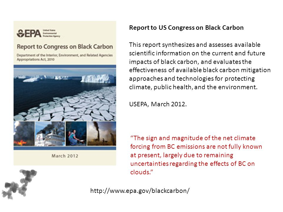 Report to US Congress on Black Carbon