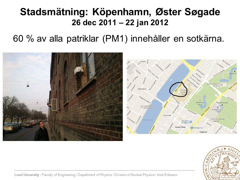 Stadsmätning: Köpenhamn, Øster Søgade 26 dec 2011 – 22 jan 2012