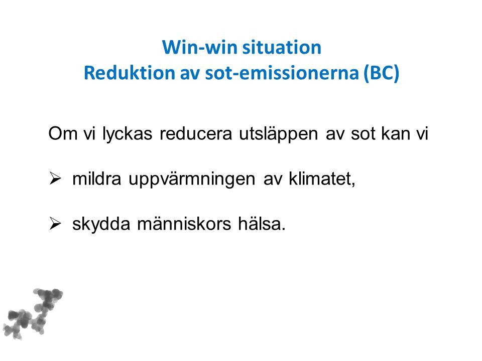 Reduktion av sot-emissionerna (BC)