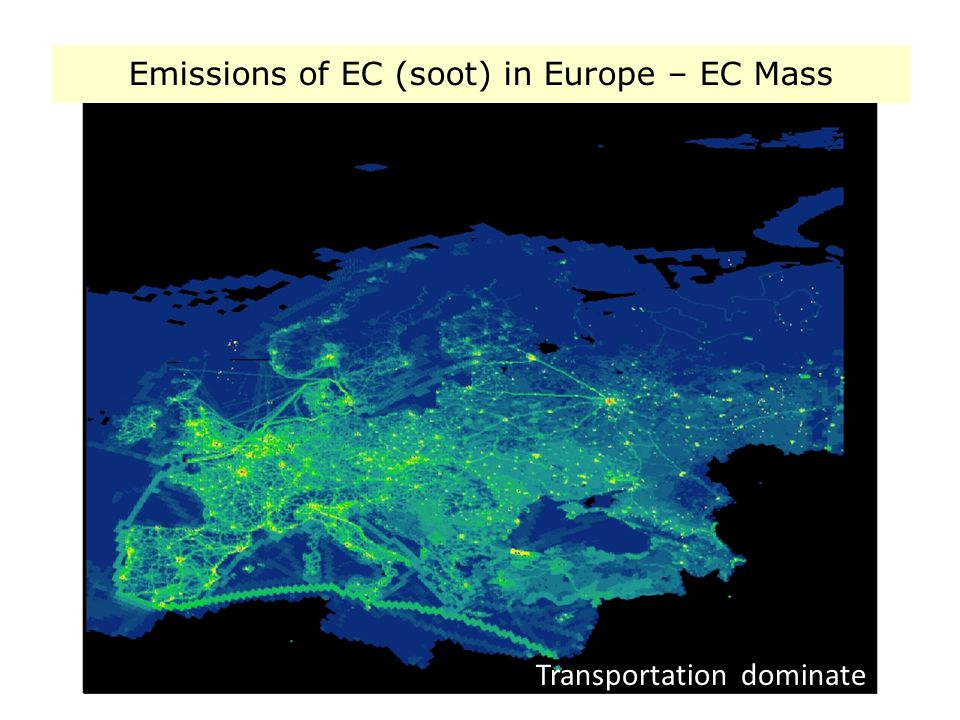 Emissions of EC (soot) in Europe – EC Mass