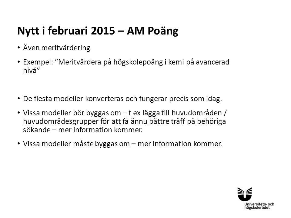 Nytt i februari 2015 – AM Poäng