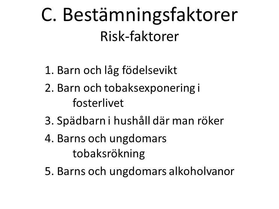 C. Bestämningsfaktorer Risk-faktorer