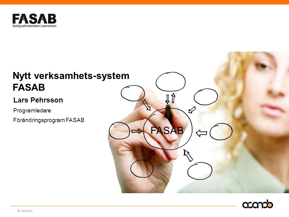FASAB Nytt verksamhets-system FASAB Lars Pehrsson Programledare