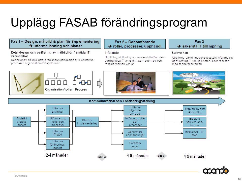 Upplägg FASAB förändringsprogram