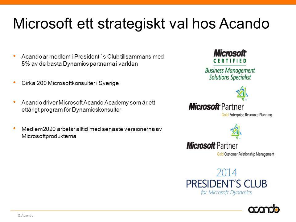 Microsoft ett strategiskt val hos Acando