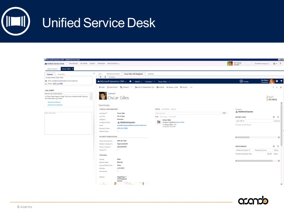 Unified Service Desk