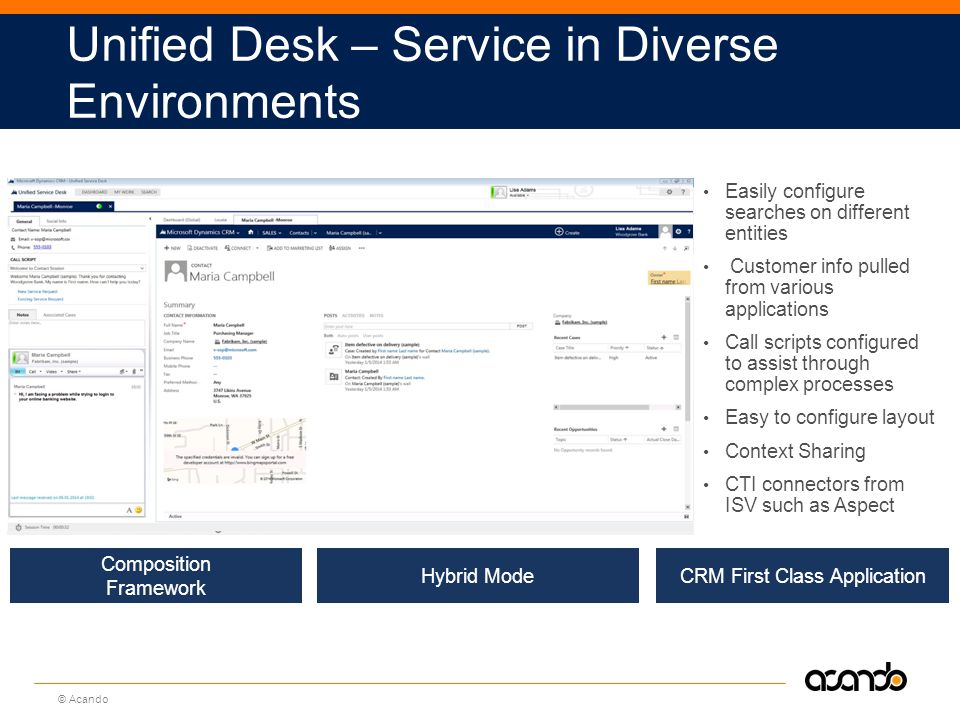 Unified Desk – Service in Diverse Environments