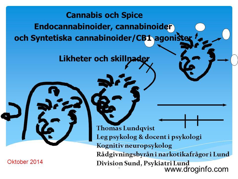 Endocannabinoider, cannabinoider
