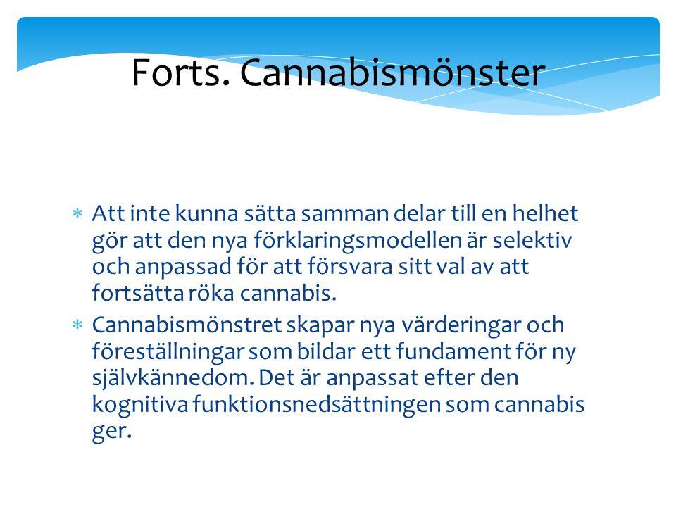 Forts. Cannabismönster