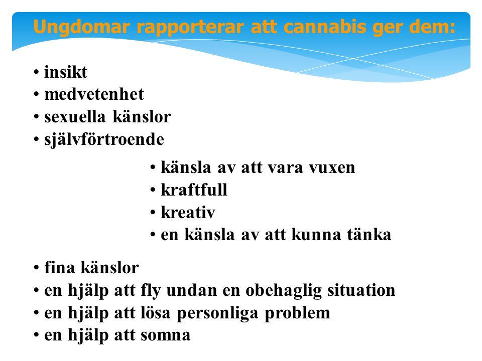 Ungdomar rapporterar att cannabis ger dem: insikt medvetenhet