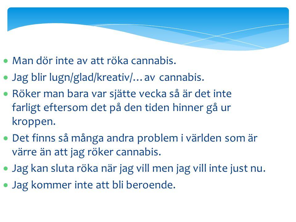 Man dör inte av att röka cannabis.