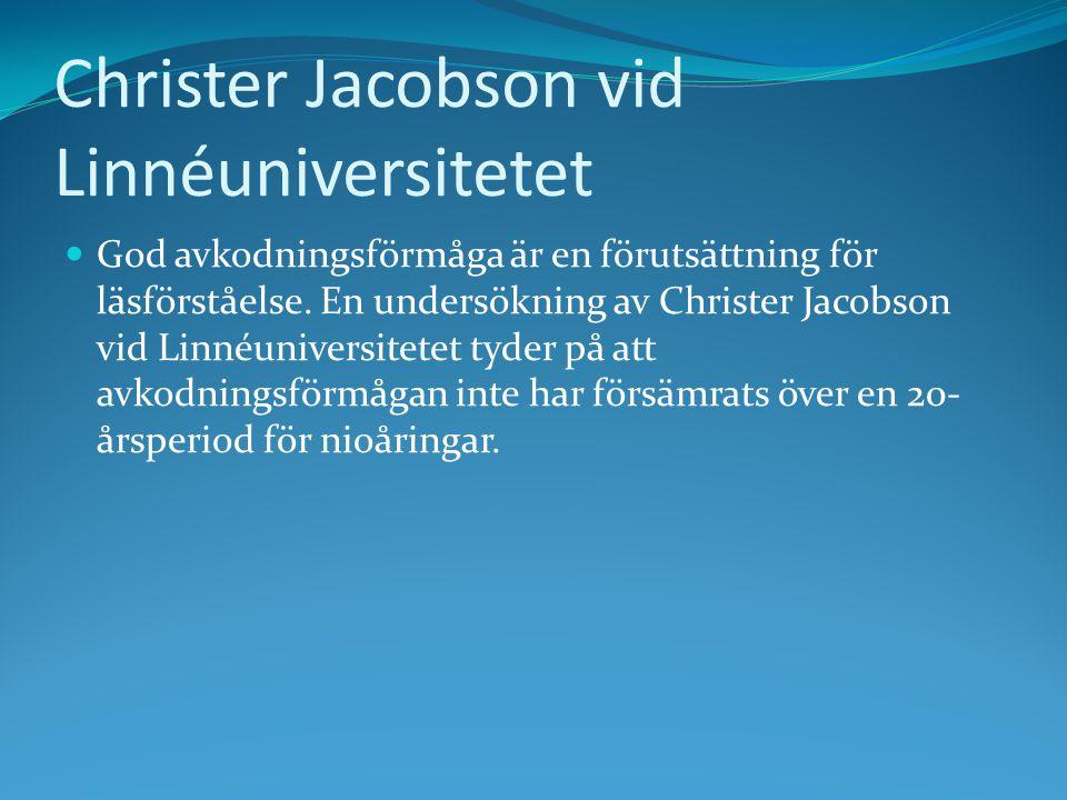 Christer Jacobson vid Linnéuniversitetet