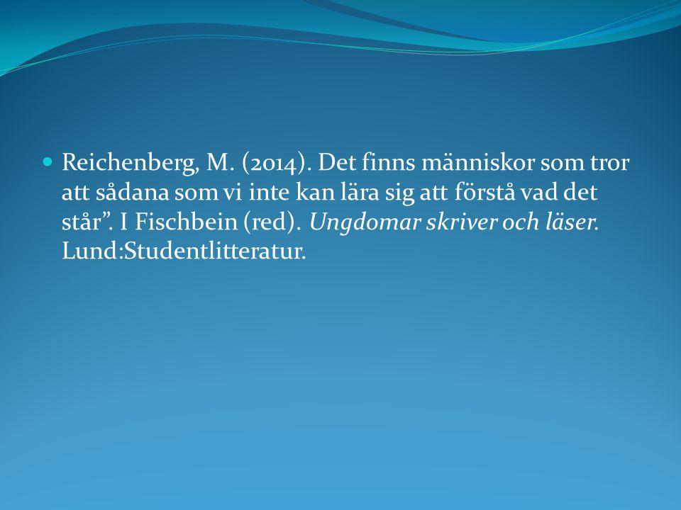 Reichenberg, M. (2014).