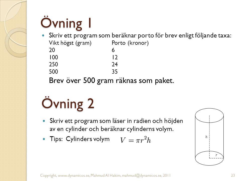 Övning 1