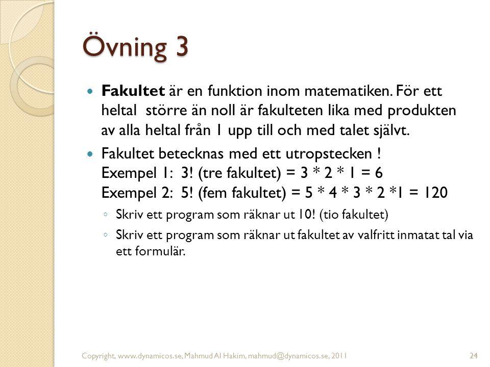 Övning 3