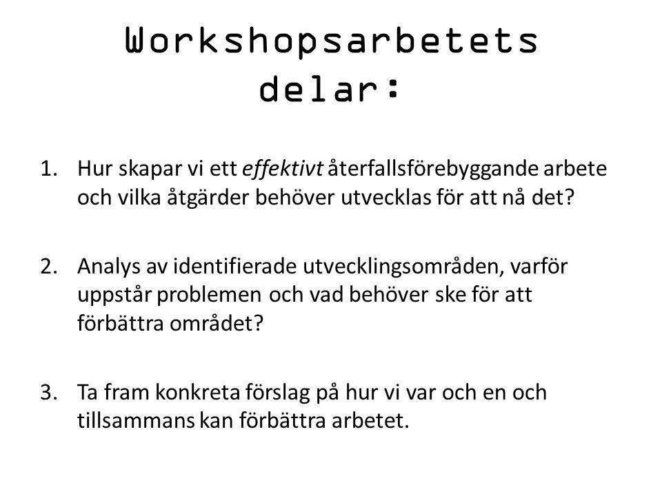 Workshopsarbetets delar: