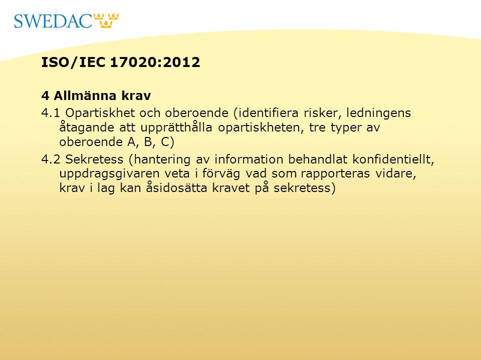 ISO/IEC 17020:2012