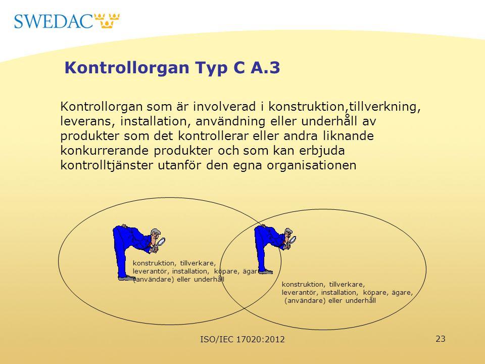 Kontrollorgan Typ C A.3