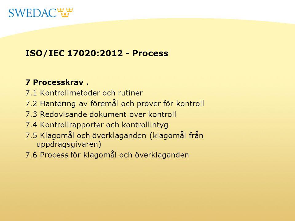 ISO/IEC 17020:2012 - Process