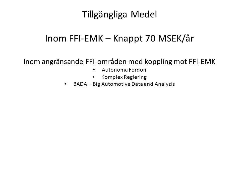 Inom FFI-EMK – Knappt 70 MSEK/år