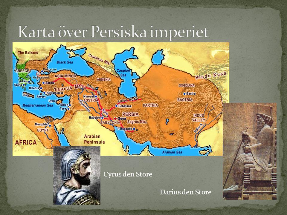 Karta över Persiska imperiet