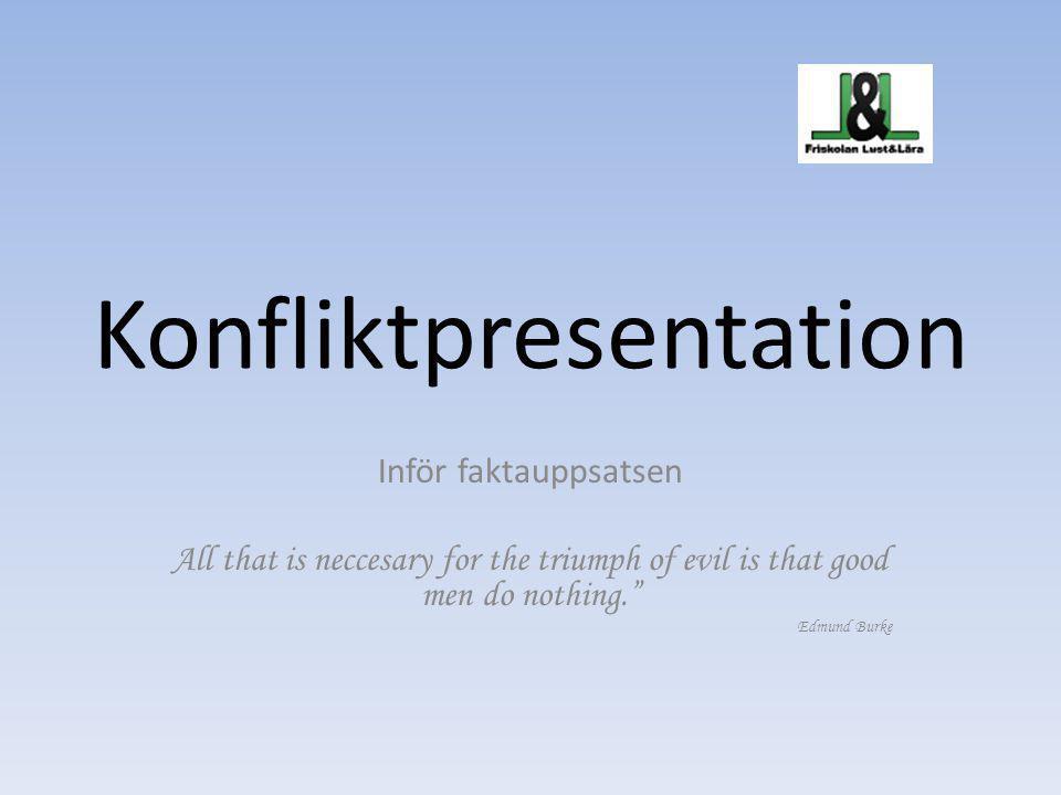 Konfliktpresentation