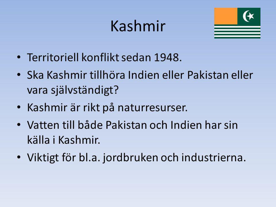 Kashmir Territoriell konflikt sedan 1948.