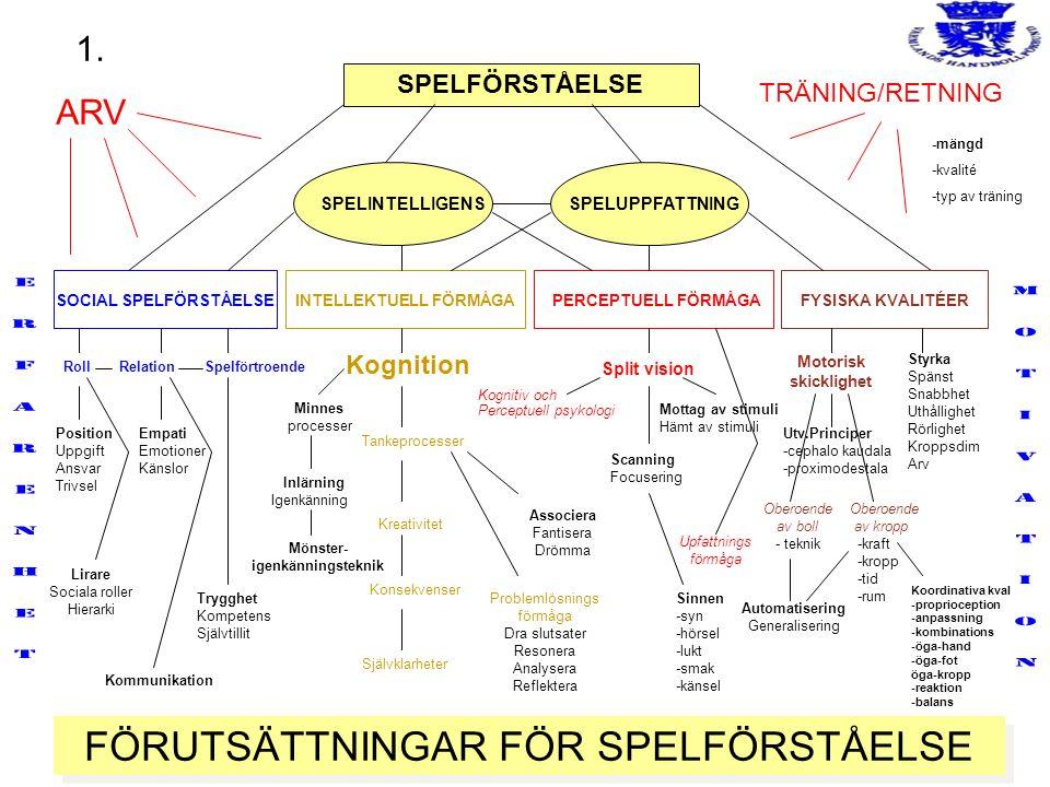 FÖRUTSÄTTNINGAR FÖR SPELFÖRSTÅELSE