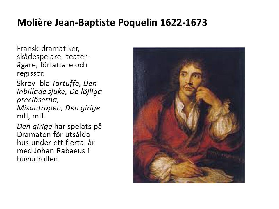 Molière Jean-Baptiste Poquelin 1622-1673