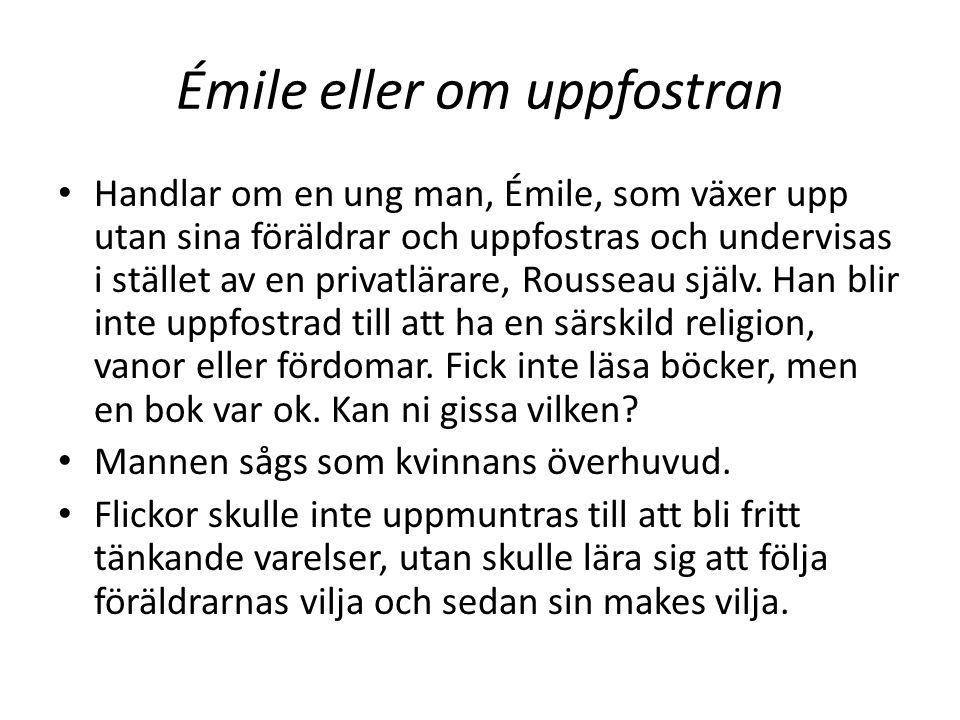 Émile eller om uppfostran
