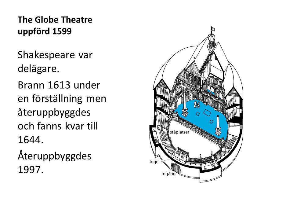 The Globe Theatre uppförd 1599