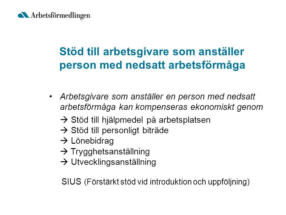 Stöd till arbetsgivare som anställer person med nedsatt arbetsförmåga