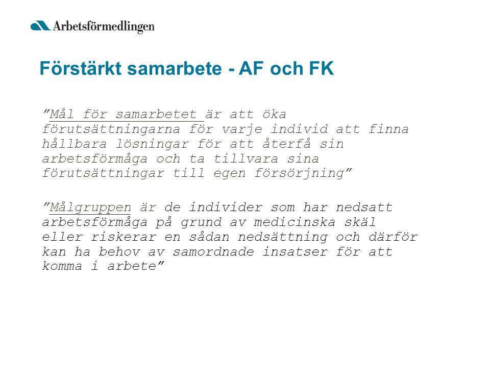 Förstärkt samarbete - AF och FK