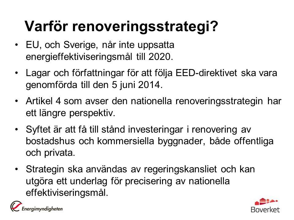 Varför renoveringsstrategi