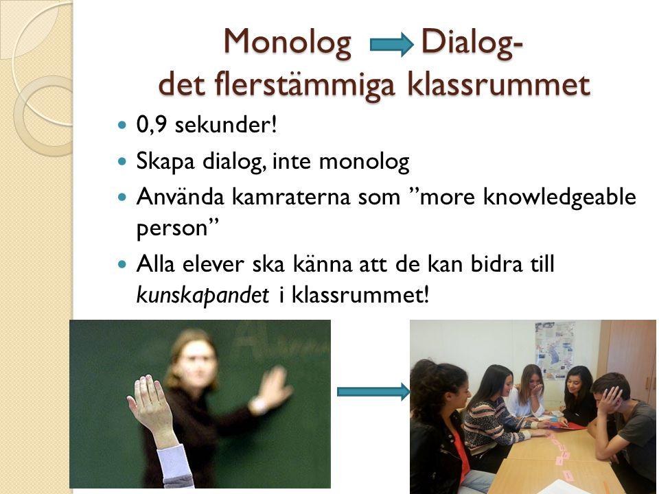 Monolog Dialog- det flerstämmiga klassrummet