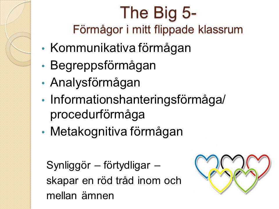 The Big 5- Förmågor i mitt flippade klassrum