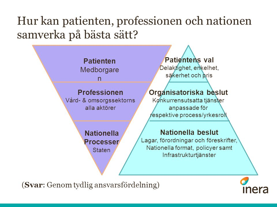 Hur kan patienten, professionen och nationen samverka på bästa sätt