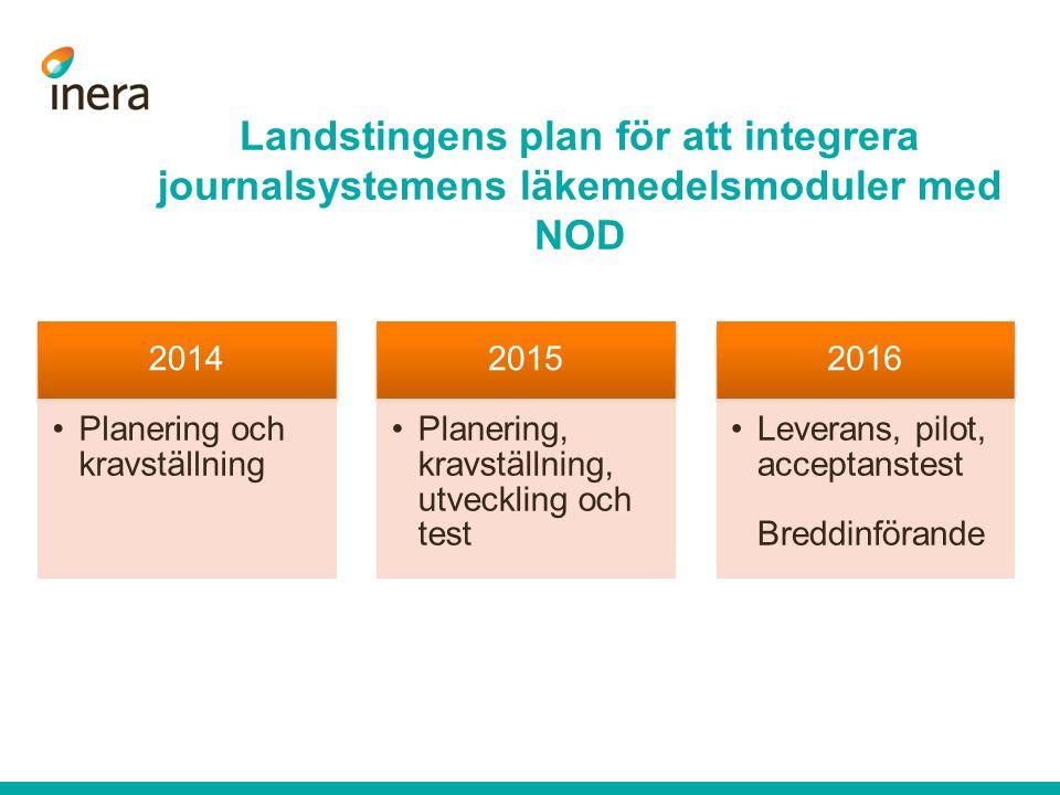 Landstingens plan för att integrera journalsystemens läkemedelsmoduler med NOD