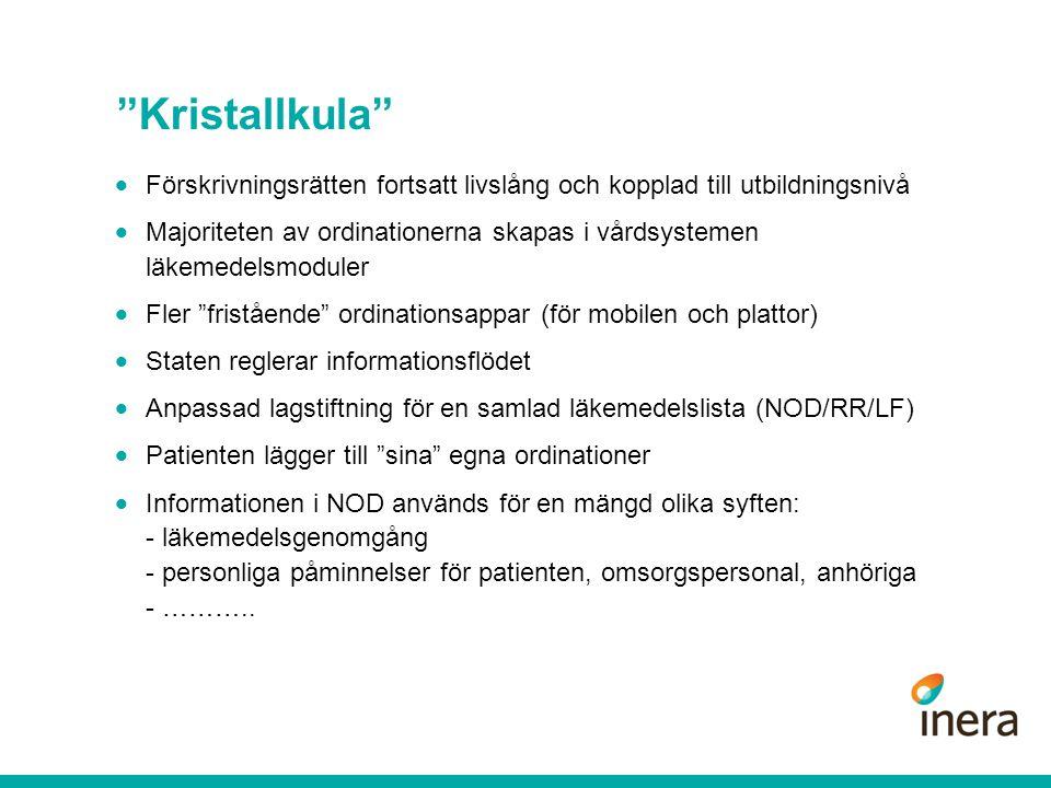 Kristallkula Förskrivningsrätten fortsatt livslång och kopplad till utbildningsnivå.