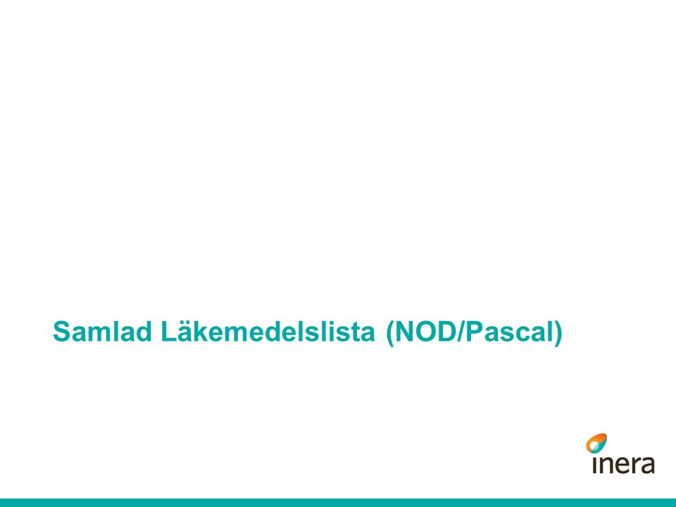 Samlad Läkemedelslista (NOD/Pascal)